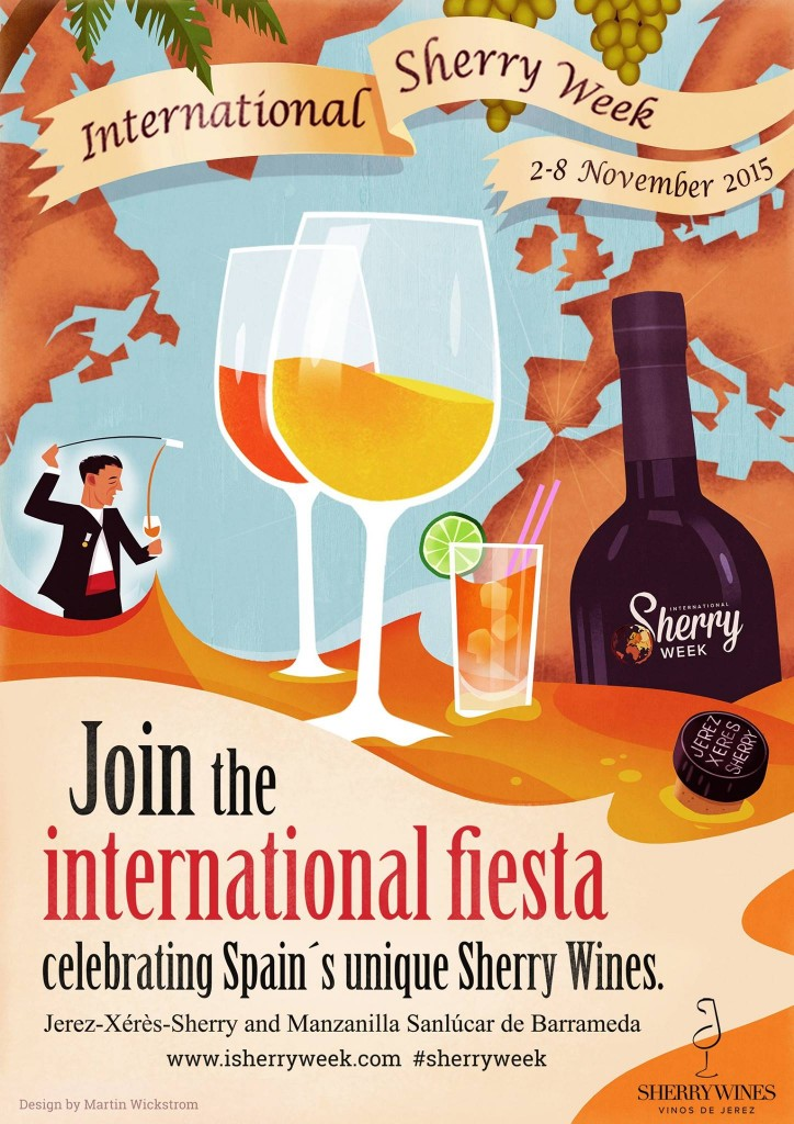 International Sherry Week は11月2日から8日まで全世界で開催です