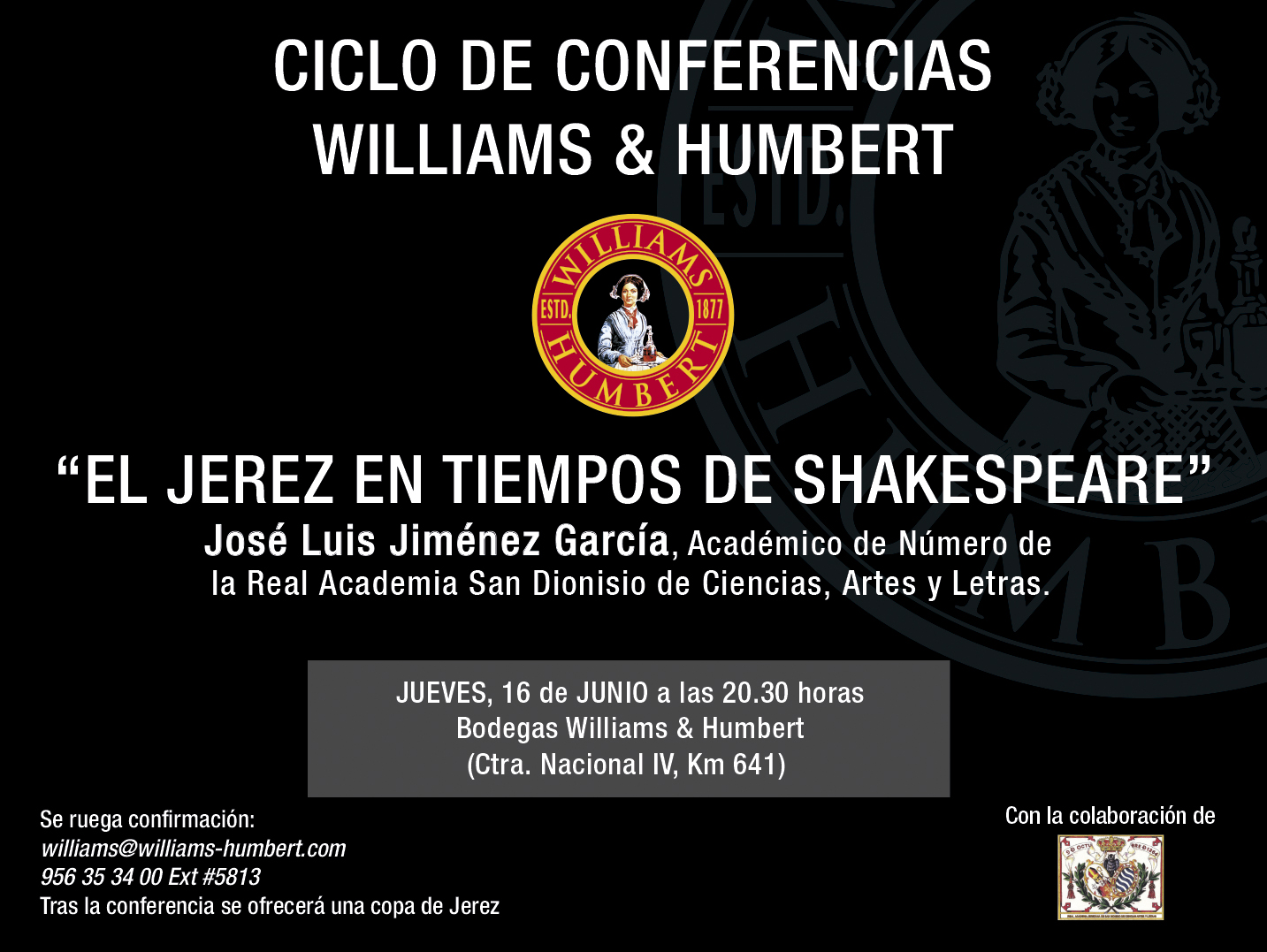 Shakespeare Lecture at Bodegas Williams & Humbert
